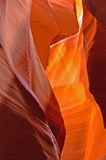 Antelope Canyon 1. A colourful picture of a slot canion in red sandstone Royalty Free Stock Images