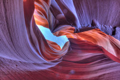 Antelope canyon. Beautiful antelope canyon with HDR Royalty Free Stock Photography