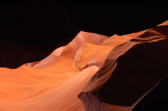 Antelope Canyon. Shadows In the Antelope Canyon Stock Photos