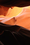 Antelope Canyon. A ray of sunlight cast into Antelope Canyon, Page, Arizona Royalty Free Stock Photos