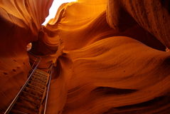 Antelope Canyon_6. Amazing, colorful sandstone formations in Lower Antelope Canyon, Utah USA Stock Photo
