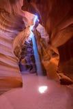 Antelope Canyon Arizona on Navajo land near Page. Antelope Canyon Arizona light beams on Navajo land near Page stock photos