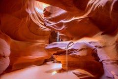Antelope Canyon Arizona on Navajo land near Page Royalty Free Stock Images