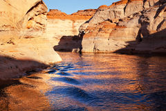 Antelope Canyon Blue Water Lake Powell Arizona Stock Photos