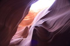 Antelope Canyon. Inside the Antelope Canyon, USA Stock Images