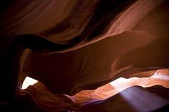 Antelope Canyon light Stock Photos