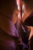 Antelope Canyon light beams Royalty Free Stock Photos