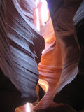 Antelope Canyon (Navajo land, Arizona, USA). Antelope Canyon is a canyon in Navajo land east of Page, Arizona (USA). It's well-known by its beautiful sandstone Royalty Free Stock Photography