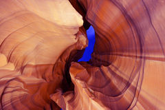 Antelope canyon night shot. View of Antelope canyon at night with stars Royalty Free Stock Photo