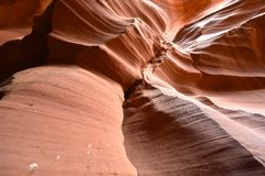 Antelope Canyon in Page, Arizona USA Stock Photos