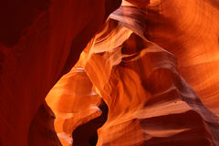 Antelope Canyon red sandstone rock formations Stock Image