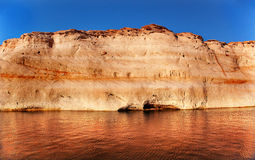 Antelope Canyon Reflection Lake Powell Arizona Stock Photo