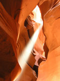 Antelope Canyon Shaft of Light 2 Stock Photo