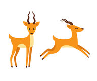 Antelope cartoon illustration. Royalty Free Stock Images