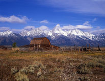 Antelope Flats Ranch. An old ranch on Antelope Flats with The Grand Teton Range in the background Royalty Free Stock Photography