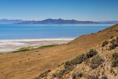 Antelope Island State Park Hillside stock photo