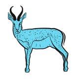 Antelope Springbok blue Royalty Free Stock Image