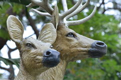 Antelope statue. In dusit zoo,thailand Stock Image