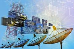 Anten satelitarnych anteny Obraz Stock