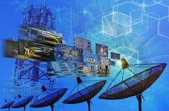 Anten satelitarnych anteny Zdjęcia Royalty Free