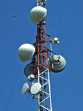 anten telekomunikaci wierza Obrazy Royalty Free