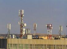 Antena τηλεπικοινωνιών Στοκ φωτογραφία με δικαίωμα ελεύθερης χρήσης