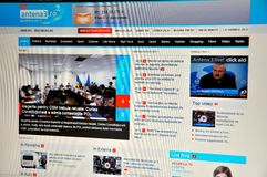 Antena 3 website Stock Foto's