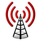 antena 3d de rádio Fotos de Stock