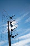 Antena aérea de la TV en tejado Imagen de archivo libre de regalías