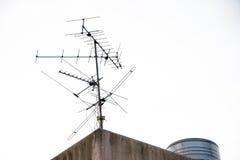 Antena aérea en el tejado Fotos de archivo libres de regalías