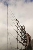 antena Anteny chmury i właściciela głąbik Fotografia Royalty Free