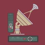 Antena basada en los satélites stock de ilustración