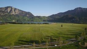 Antena Bawarska alps panorama z zielonymi łąkami zbiory wideo