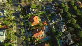 Antena Beverly Hills de Los Ángeles almacen de video