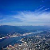 Antena Burrard wpust w Vancouver, kolumbiowie brytyjska, Kanada Fotografia Royalty Free