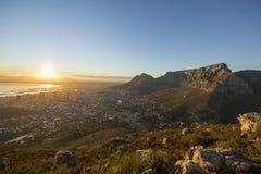 Antena Capetown stołu góra Południowa Afryka obraz stock