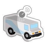 Antena car isometric icon Royalty Free Stock Photography