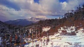 Antena Chele losu angeles przepustka w Bhutan zbiory wideo