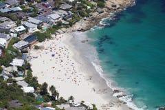 Antena Clifton plaża, Kapsztad Obrazy Stock