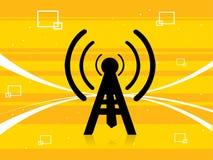 Antena con las ondas Foto de archivo libre de regalías