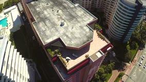 Antena constructiva del ático de Miami Beach almacen de metraje de vídeo