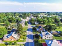 Antena da área de Main Street em Shrewsbury, Pensilvânia Fotografia de Stock