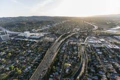 Antena da autoestrada de Los Angeles Ventura 101 Fotos de Stock