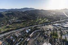 Antena da autoestrada de Thousand Oaks Ventura 101 Imagens de Stock