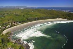 Antena da baía de Cox, ilha de Vancôver, BC, Canadá imagem de stock royalty free