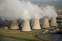 Antena da central eléctrica Fotos de Stock Royalty Free