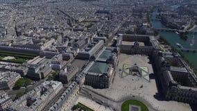 Antena da cidade de Paris vídeos de arquivo