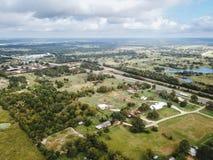 Antena da cidade rural pequena de Sommerville, Texas Next na aposta fotografia de stock royalty free