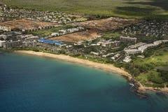 Antena da costa de Maui. fotografia de stock
