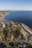 Antena da estrada da Costa do Pacífico de Los Angeles Fotografia de Stock Royalty Free